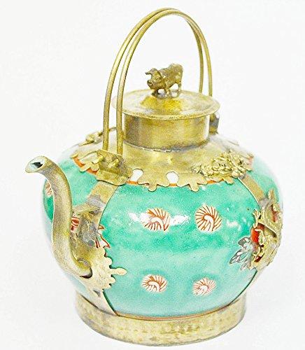 - Classic Home Decore Beautiful Chinese tibet Porcelain Dragon TeaPot