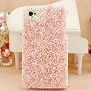 ZXC 4.7Inch Bud Silk for Rose with Pearl Hard Back Cover for iPhone 6(Assorted Colors) , Blue