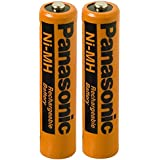 Panasonic HHR-75AAA/B-4 Ni-MH Rechargeable Battery for Cordless Phones, 700 mAh (Pack of 2)