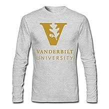 Vanderbilt University Logo Men's Long Sleeve T-Shirt Black