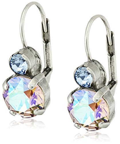 """Sorrelli """"Dixie"""" Round Crystal French Wire Drop Earrings"""