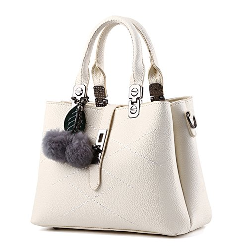 Top body Handbag Beige style Bag with Handle Totes Shoulder Shoulder Blue Cross Shopper Strap PU New 2 Leather handbag Ladies 6gAvxwW