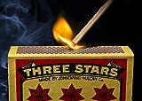 Swedish Match, Three Stars Safety Matches, 10 pack