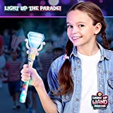 Light-Up Spinning Diamond Wand for Kids in Gift