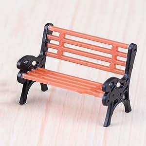 Micro paisaje resina figuras de Bonsai (Mini jardín accesorios Mini banco de silla de jardín de hadas adorno decoración