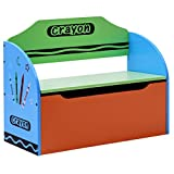 Costzon Toy Box, Crayon Themed Toy Storage Chest Organizer for Kids with Lid