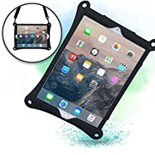Apple iPad Pro 12.9 case with Stand, Shoulder Strap, Hand Strap | COOPER BOUNCE STRAP Shock Proof Silicone iPad 12.9 case | Easy to Clean, Multi-Functional, Kid Friendly cover for iPad Pro (Black)