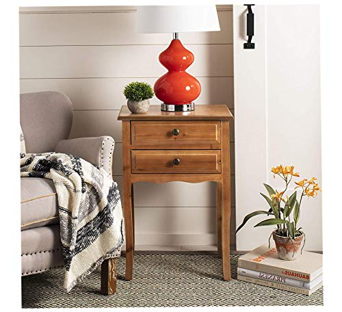 - Wood & Style Furniture Lori Red Maple End Table Home Office Commerial Heavy Duty Strong Décor