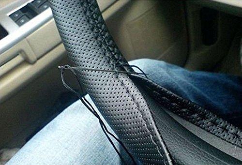 Gespout fascia copri-volante nera con ago e filo colorato fai-da-te