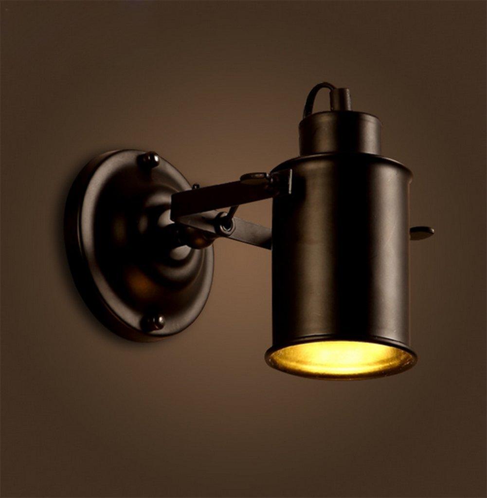 Lampada Da Parete A Led Nero,Illuminazione Decorativa In Ferro Battuto Faretti Retrò
