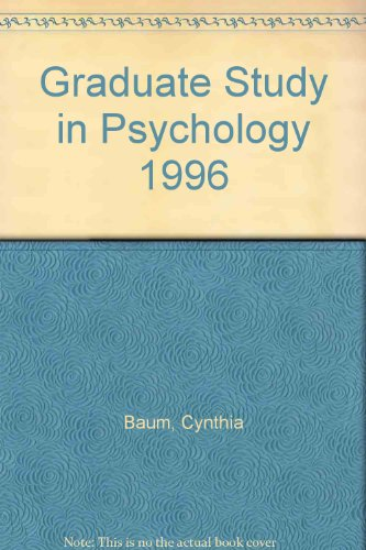 Graduate Study in Psychology 1996