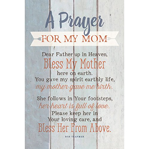 "Mom Prayer Wood Plaque with Inspiring Quotes 6""x9"" - Classy Vertical Frame Wall & Tabletop Decoration 