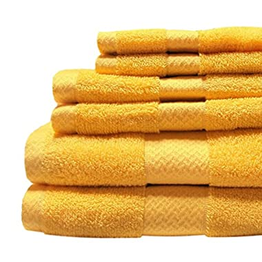Jc Penny Home - Solid Bath Towels - 6 Piece Towel Set (Mum Yellow)