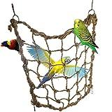 Mrlipet Hammock Climbing Net Swing Toy for Bird Parrot Macaw African Greys Cockatoo Budgies Parakeet Cockatiel Conure Lovebirds Cage Perch