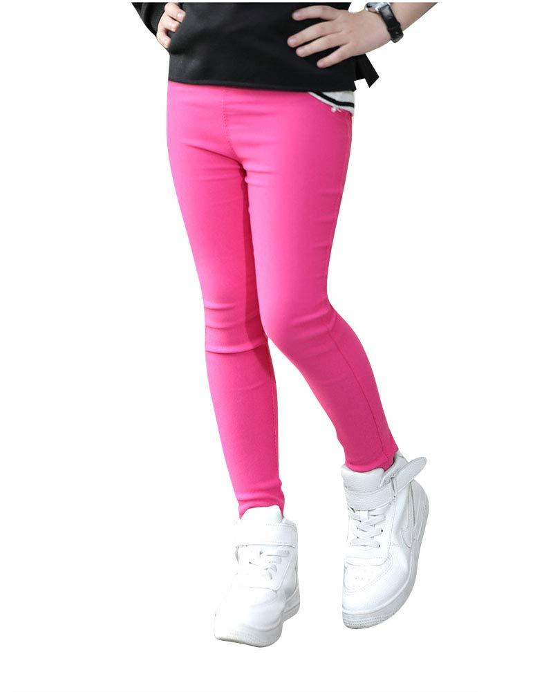 Yonglan Leggings Lungo Pantaloni per Ragazze Tinta Unita Leggins Caldo Pantacollant Lunghi