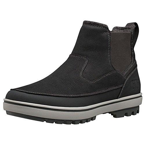 Helly Hansen Garibaldi V3 Slip-on, Stivali da Neve Uomo Nero (Jet Black/ New Light Grey 991)