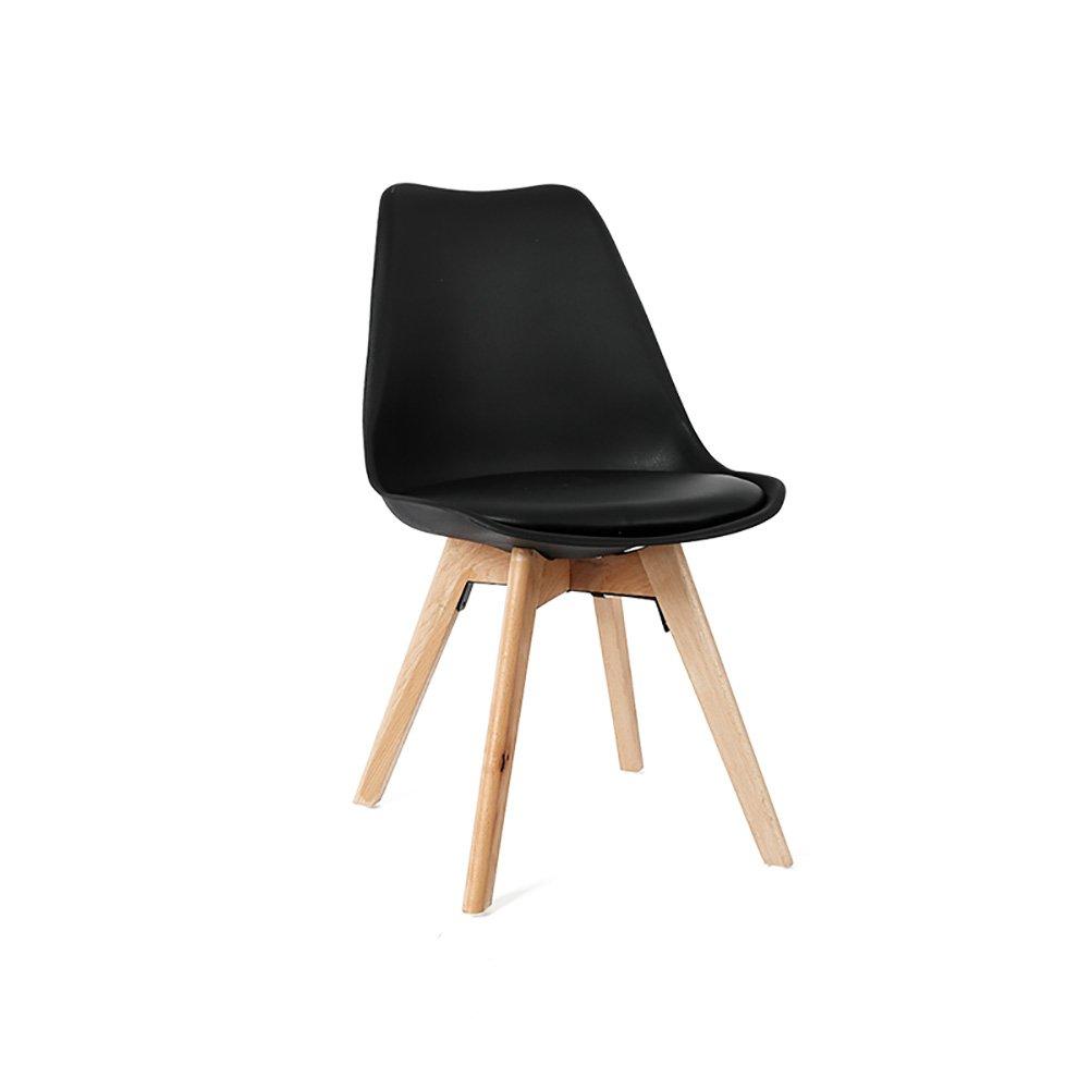 チェアウッドダイニングチェアモダンシンプルなオフィスは、 (色 : Black, サイズ さいず : Set of 1) B07FBRC3LR Set of 1|Black Black Set of 1