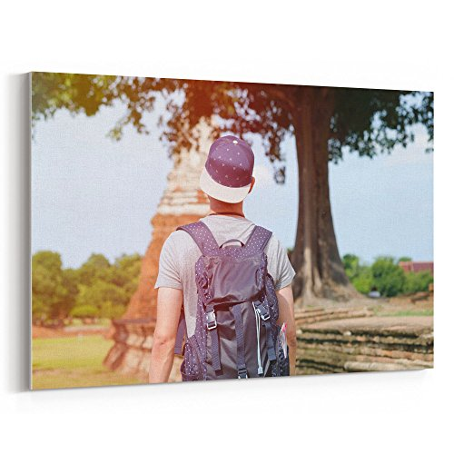 Westlake Art - Girl Road - 5x7 Canvas Print Wall Art - Canvas Stretched Gallery Wrap Modern Picture Photography Artwork - Ready to Hang 5x7 Inch