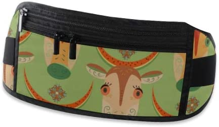 Cartoon Cows Big Eyes Watermelon Peel Running Lumbar Pack For Travel Outdoor Sports Walking Travel Waist Pack,travel Pocket With Adjustable Belt