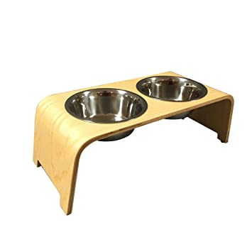 DSADDSD Cat Dog Pet Food Bowl Acero Inoxidable Tazón Doble ...