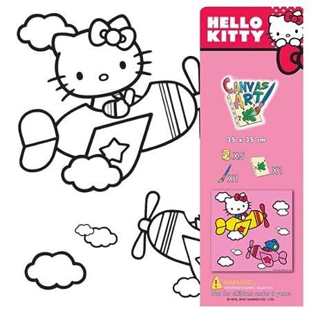 Hello Kitty Ausmalbilder auf Leinwand Motiv wählbar Keilrahmen inkl ...