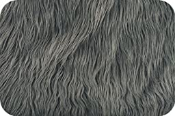 Charcoal Mongolian Faux Fur Extra Large size 36\