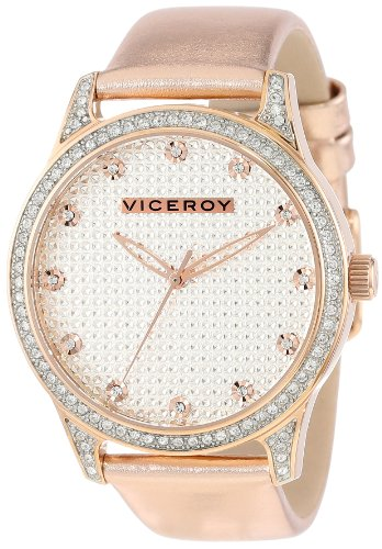 Viceroy Women's 40700-97 Rose Gold Ion-Plated Stainless Steel and Metallic Patent Leather Watch