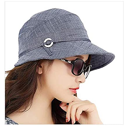 Chapeau d/écontract/é et Occasionnel Printemps Chapeau de Soleil pour Femmes Dames Pliables SANCONlte Chapeau de p/êcheur en Plein air en /ét/é