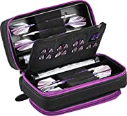 Viper by GLD Products Casemaster Plazma Pro Dart Case with Amethyst Zipper for Soft and Steel Tip Darts, Holds