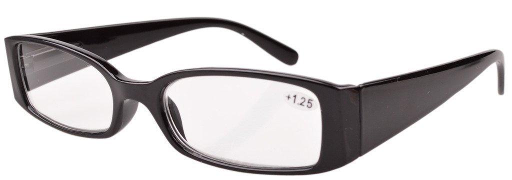 Eyekepper resorte de la bisagra de lectura plásticos de los vidrios de las mujeres Black +1.75
