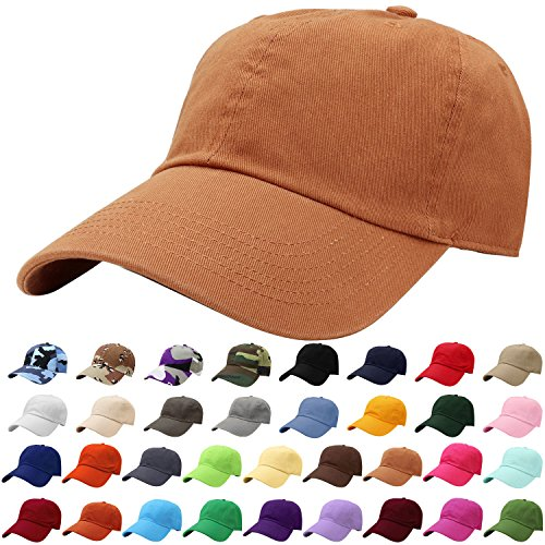 Falari Baseball Cap Hat 100% Cotton Adjustable Size Copper 1819