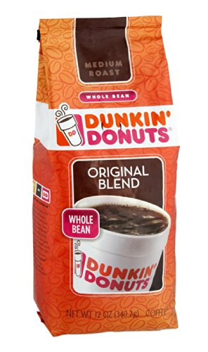 Dunkin' Donuts Original Blend Medium Roast Whole Bean Coffee 12 OZ (Pack of 18) by Dunkin' Donuts