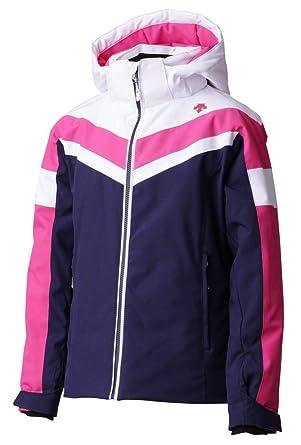 57189848d95e Amazon.com  Descente Kiley Ski Jacket - Girls - Super White Pink ...