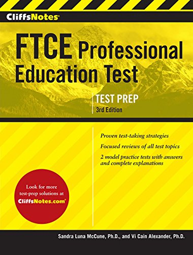 Pdf Test Preparation CliffsNotes FTCE Professional Education Test, 3rd Edition (CliffsNotes (Paperback))