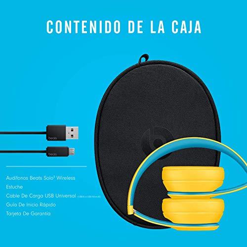 Beats Solo3 Wireless On-Ear Headphones - Apple W1 Headphone Chip, Class 1 Bluetooth, 40 Hours Of Listening Time - Club Yellow (Latest Model)