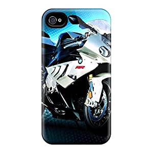 Scratch Protection Hard Phone Cover For Iphone 4/4s With Unique Design Lifelike Bmw Pattern SherriFakhry