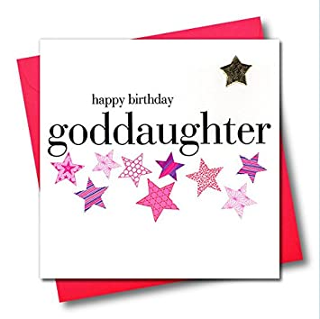 Claire Giles Hearts And Stars Happy Birthday Goddaughter Card