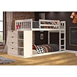 kid bunk beds Donco Kids 1600TTW Mission Chest Bunkbed, Twin, White