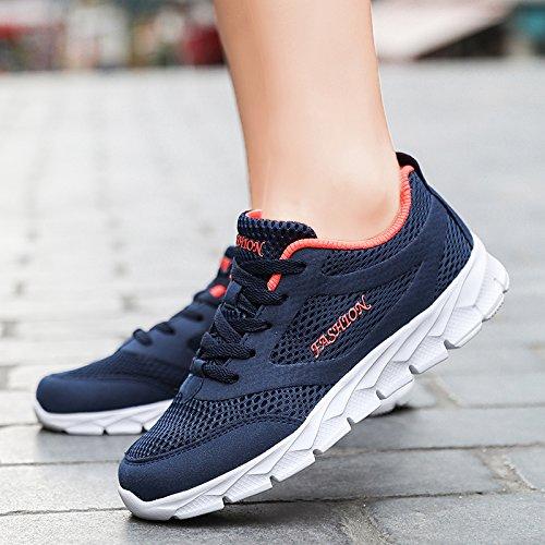 de nuevos Femeninos Deportivos 2018 Transpirable Zapatillas Zapatos Casuales Hasag Malla blue Zapatos Zapatos Rqtzzw