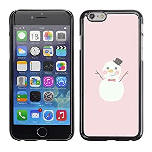 Planetar® ( Snowman Happy Cartoon Pink Christmas ) Apple iPhone 6(4.7 inches) Fundas Cover Cubre Hard Case Cover