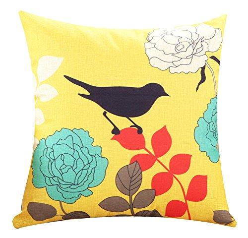 LivebyCare Patterns Print Throw Pillow Cover Sham Case Cushion Covers Linen Cotton Zipper Pillowslip Pillowcase for Dinning Room Kitchen Chair Back Seat (Pillow Monogrammed Bolster)