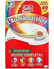 Grey L'Actracore Opvangbladen voor de wasmachine, voorkomt ongelukken bij het wassen, 40 stuks