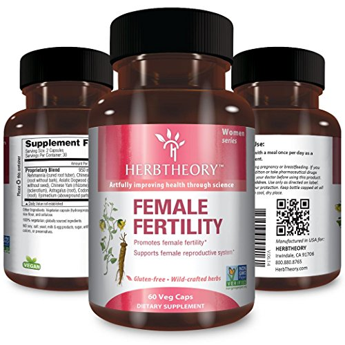 Herbtheory Female Fertility Supplement For Women To Assist With The Reproductive System (950mg, 60 Capsules) (Female Fertility)