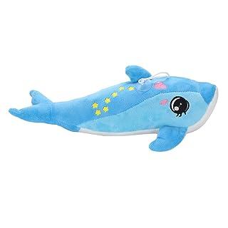 ALIKEEY Natale Giocattolo Educativi per Bambini Luce Notturna Creativa A LED Animali Imbalsamati Adorabili Delfini E Giocattoli di Peluche