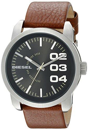 - Diesel Black Dial Tan Leather Strap Mens Watch DZ1513