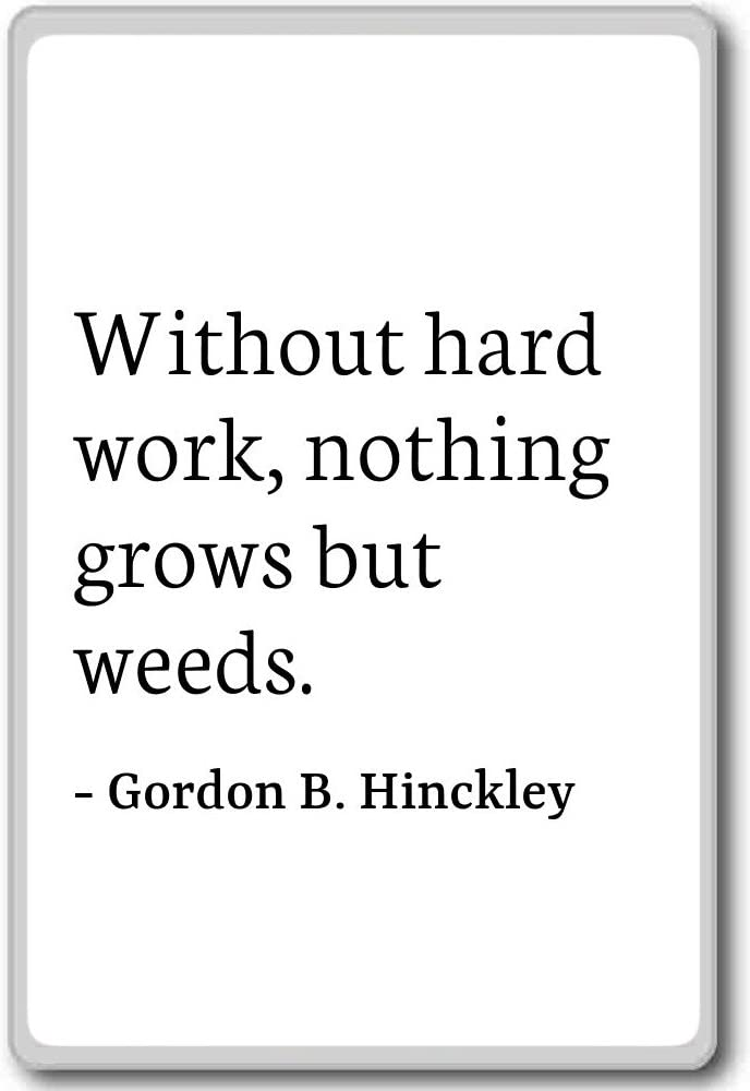 Amazon Com Without Hard Work Nothing Grows But Wee Gordon B Hinckley Quotes Fridge Magnet White Kitchen Dining