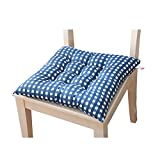 Square Seat Cushion Soft Indoor Outdoor Seat Cushions Square Polyester Cotton Chair Cushion Thickened Office Pad for Room Dining Room Patio 1PC (Blue)