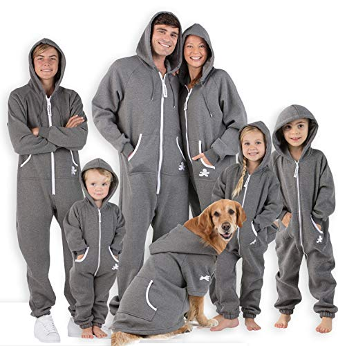 Joggies - Family Matching Rock Gray Hoodie Onesies for Boys, Girls, Men, Women and Pets (Adult - Large Plus/Wide (Fits 5'11-6'4