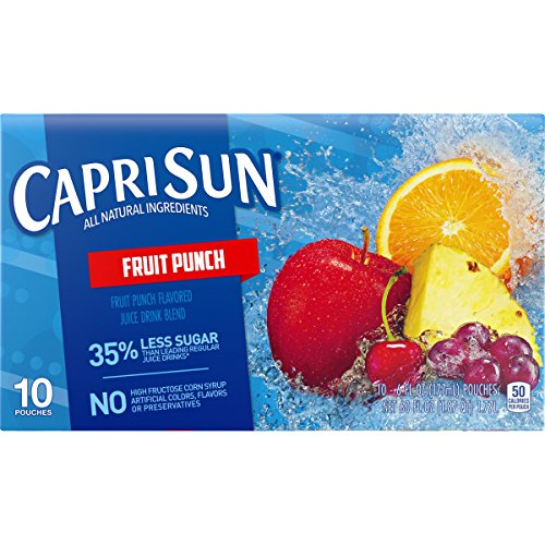 Capri Sun Fruit - Capri Sun Fruit Punch Juice Drink (6 oz Pouches, 10 Count)