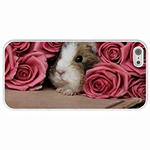 Personalized Apple iPhone 5 5S Back Diy PC Hard Shell Case Guinea Pig White